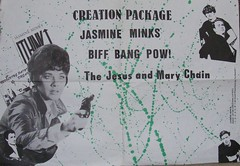 """Jasmine Minks, Biff Bang Pow, Jesus and Mary Chain poster 1984 <a style=""""margin-left:10px; font-size:0.8em;"""" href=""""http://www.flickr.com/photos/58583419@N08/5401235842/"""" target=""""_blank"""">@flickr</a>"""