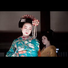 (Masahiro Makino) Tags: woman girl japan female photoshop canon eos japanese kyoto kiss shrine maiko geiko adobe   tamron 90mm f28  lightroom kitanotenmangu x3   kamishichiken  naokazu   umesaya 20110203134631canoneoskissx3ls640p