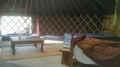 Inside the Woodland Yurt (uniteddiversity) Tags: uk camping camp haywardsheath farm yurt lovely campsite yurts sheffieldpark wowo uckfield wapsbournemanor wapsbourne wapsbournemanorfarm ukcampsite
