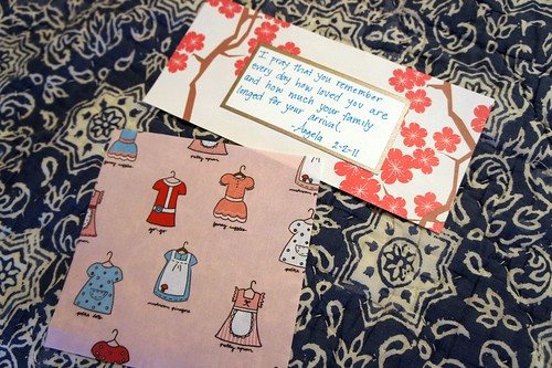 Fabric and prayer for Kendra's adoption
