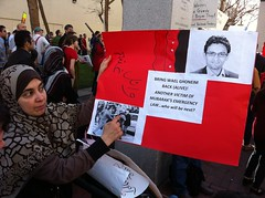 Bring Wael @ghonim back sign San Francisco #jan25 #Egypt protest #google