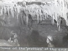 some of the pretties at the end Punchbowl Cave (spelio) Tags: old girls red bw jane album australia historic formation bushwalking nsw prints kbc watts caving alison karst copy suss 1964 cccp g12 jessup weejasper cavers