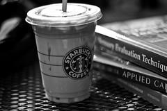 Midterm Week (Just Pic n' Jules) Tags: white black coffee books study starbucks calculus weeks 52 caramelmacchiato