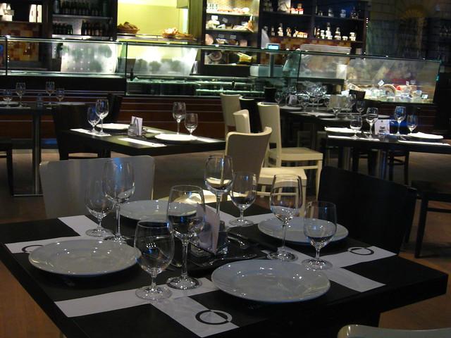 フィレンツェのレストランのフリー写真素材
