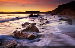 Broken Boulder, New Zealand (Christopher Chan) Tags: sea newzealand seascape water sunrise canon boulders 7d otago 1022mm moeraki