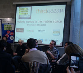 Mobile startup panellists at Social Media Week