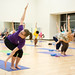 Yoga class in the Campus Recreation Center (CRC)