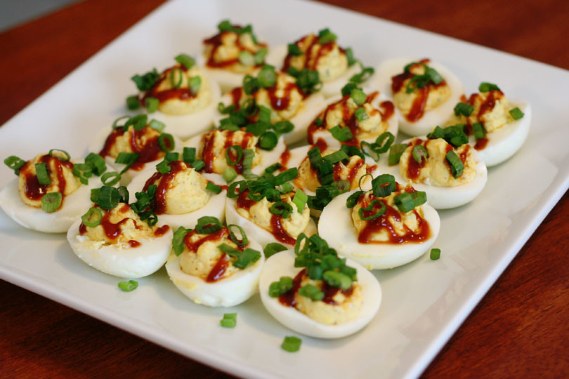 Barbeque Ranch Deviled Eggs
