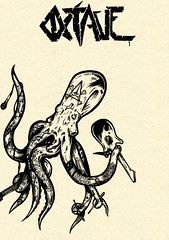 zine cover (estersands) Tags: zine art illustration drawing cover octopus octave rocktopus estersands