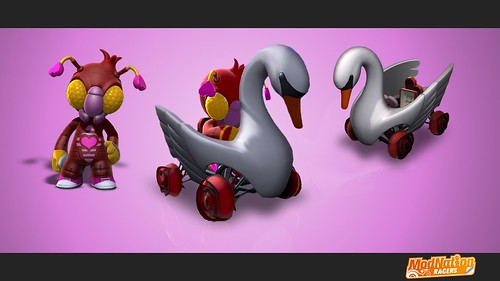 ModNation Racers - Lovebug SwanKart