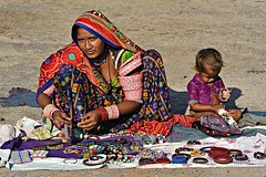 Tribal Trinket Seller 1 (Jayanand) Tags: india gujarat kutch littlerann