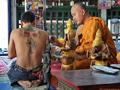 Blessing Sak Yant (Magical tattoo).