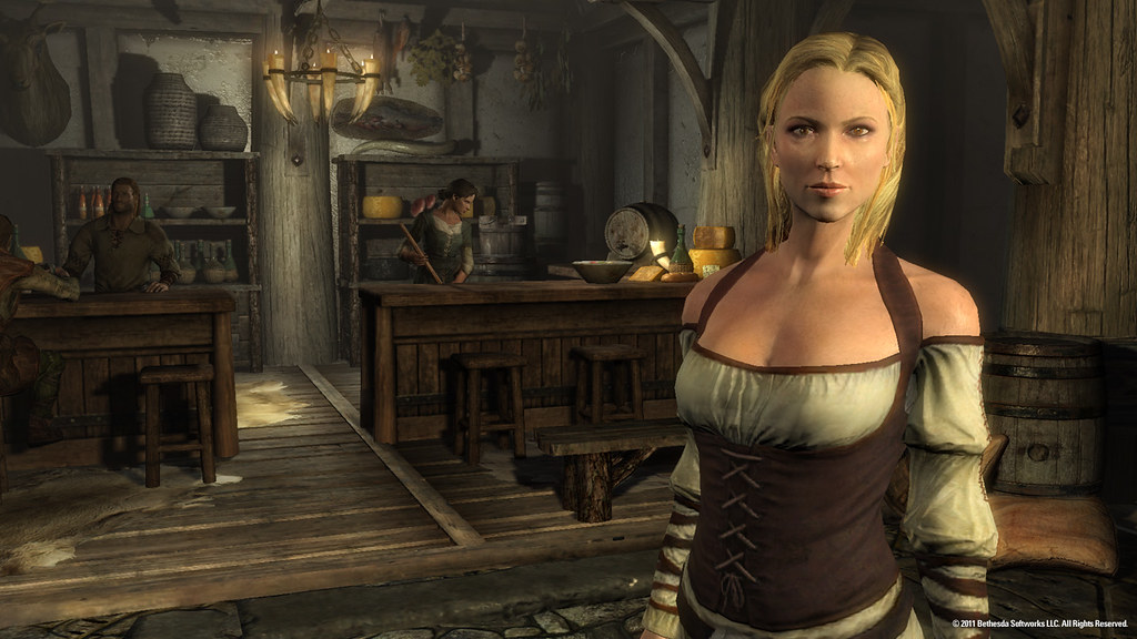 Humans look human in Skyrim