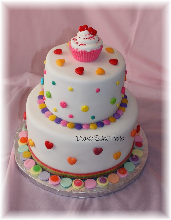candy cake for Trinity