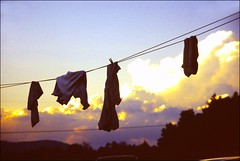 PICT0183 (Emily Taliaferro Prince) Tags: sunset summer sky clouds vermont laundry