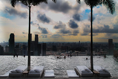Marina Bay Sands, Singapore (masterbks) Tags: sky pool skyscraper hotel view panoramic swimmingpool tall highest tallest marinabaysands