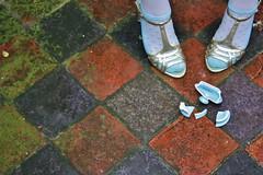 (Tea) Pot o' Gold (Cara Bendon Photography) Tags: blue irish house london girl fashion lady self gold dress young saying story teapot concept prop pun proverb wordplay
