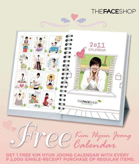 Kim Hyun Joong The Face Shop Calendar Give-Away in Philippines