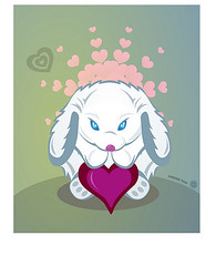 Bunny Love (shaire productions) Tags: pink blue white cute rabbit bunny love animal illustration digital hearts design graphicdesign artwork hare heart graphic image drawing originalart girly cartoon arts shapes fluffy style luv animation illustrator draw drawn shape vector lapin imagery whiterabbit cutesy sherriethai shaireproductions