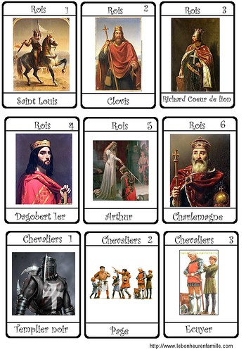 cartes chevaliers 1