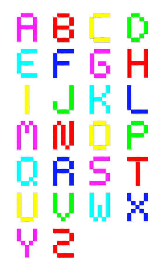 tipografía hecha de photoshop