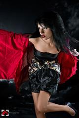 Canon skin tones rock (Mai An Hoa) Tags: red portrait black fashion canon model key low editorial strobist alohalavinaphotography