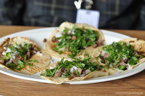 Carne Asada y Lengua Tacos at Mazatlan Restaurant ~ St Paul, MN