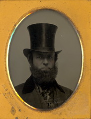 Victorian  Gent in Top Hat Ambrotype (Mirror Image Gallery) Tags: tophat ambrotype es dunshee victorianman