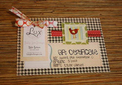 Baby Lux Deisgn gift certificate