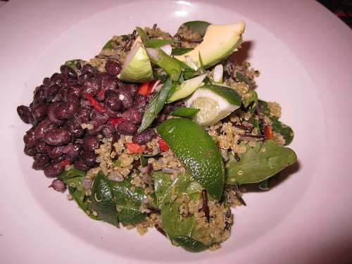 Qunioa Wild Rice Salad with Black Beans and Lime