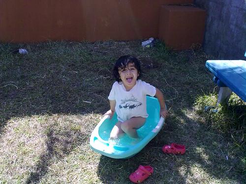 Baño en el patio