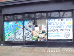 Sabotaj shop front (Bare Brighton) Tags: art community taj squat sainsburys activism occupation sabotaj