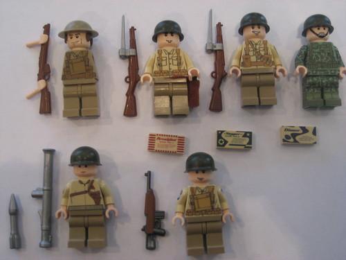 Custom minifig WWII custom lego minifigures
