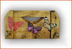 gancho borboleta (joanatomate) Tags: tiara flores santaluzia mandala feltro guadalupe madeira fita gancho trevo sãofrancisco oratório portachave matrisoka sãojudas coraçãotecido
