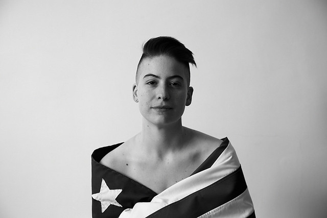 rachel in a flag