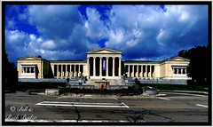Buffalo NY ~ Albright-Knox Art Gallery (Onasill) Tags: county new york travel b sculpture usa ny building green art tourism apple saint museum architecture us buffalo gallery imac fine columns arts landmark tourist historic edward architect exposition american knox pavilion pan erie 1001nights academy caryatids augustus attraction 1905 apps beaux albright ipad gaudens nrhp photogene onasill