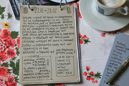 peinzen bij de ochtendkoffie