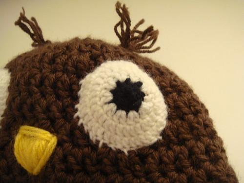 Gros plan sur l'oeil du bonnet-hibou #1