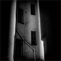 Shadows in the Backyard (Olli Keklinen) Tags: bw black photoshop suomi finland dark square helsinki backyard nikon shadows darkness d300 2011 500x500 ok6 ollik winner500 100commentgroup 20110224 work2864