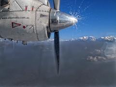 airtasmania (collette v) Tags: nepal sky mountains plane airplane flying flight wing kathmandu propeller himalayas airtasmania