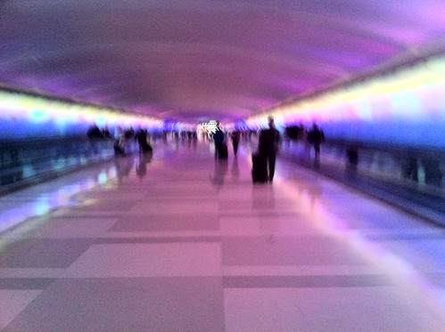 Crazy tunnel in Detroit airport