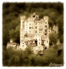 Schloss Hohenschwangau (silwittmann) Tags: castle history sepia architecture germany bayern deutschland europa alpen neogothic schloss chteau castillo picnik hohenschwangau allgu baviera schwangau bavarianalps ostallgu