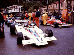 Pitlane Filled with Cars Prior to Qualifying for the Monaco GP 1977 (Philinflash) Tags: 6x6 car f1 ferrari racing monaco hasselblad grandprix 1977 formula1 motorsport autosport motoracing