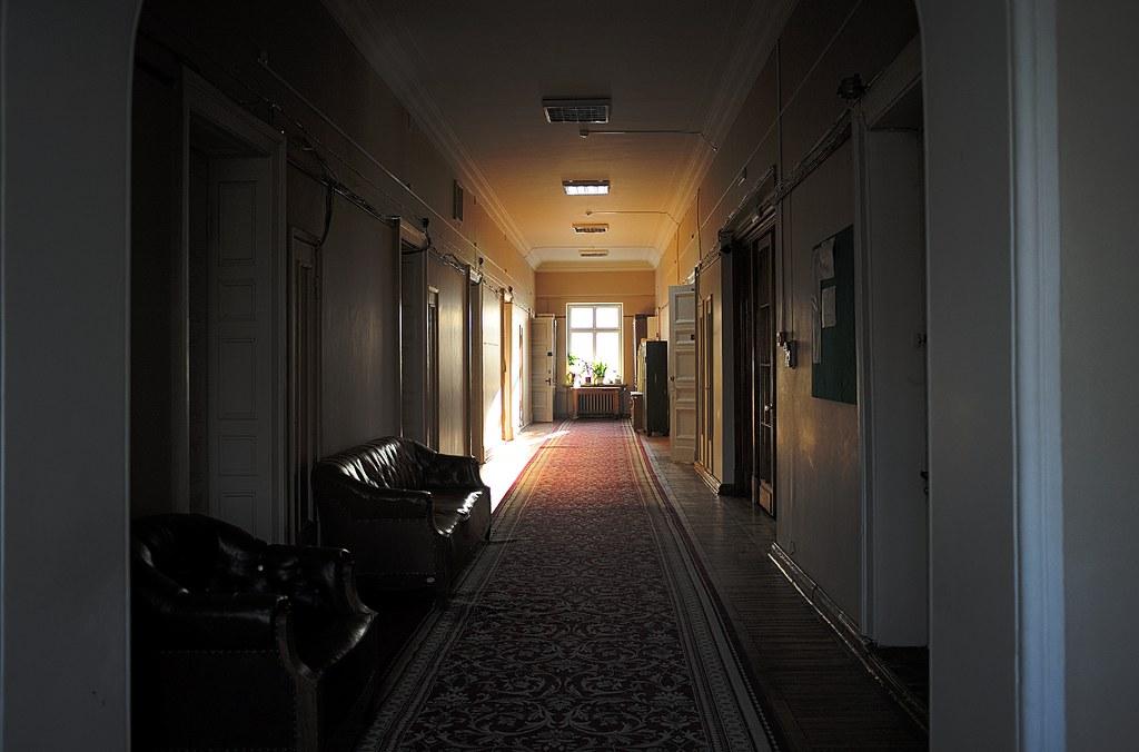 Sunlit corridor