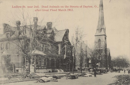 Ludlow Street Near Second, Dayton, OH - 1913 Flood
