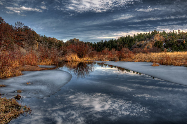 Beaver ponds in late Fall