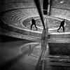 in threes (Barry Yanowitz) Tags: nyc newyorkcity blackandwhite bw ny newyork reflection 6x6 film mediumformat reflections blackwhite downtown kodak manhattan trix 120film d76 wintergarden scanned filmcamera worldfinancialcenter nycity selfdeveloped rolleicordv selfdeveloping d76developer nprfilm