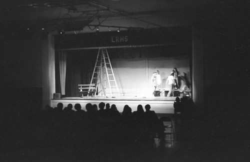 Live theater at Lower Richland High School, 1971