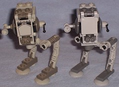 Lego Mini AT-ST Comparison (Darth Ray) Tags: star lego mini wars comparison atst 30054 4486