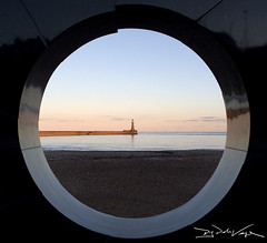 "The view of the Sea through ""C"" (D.J. De La Vega) Tags: leica lighthouse pier c x1 sunderland roker seaburn"